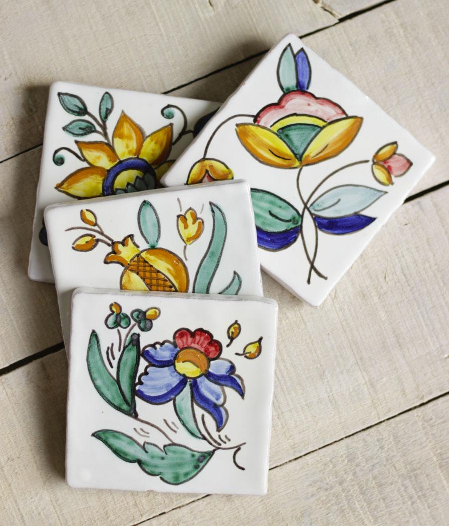 Azulejos artesanales posavasos decoraci n pared for Azulejos artesanales