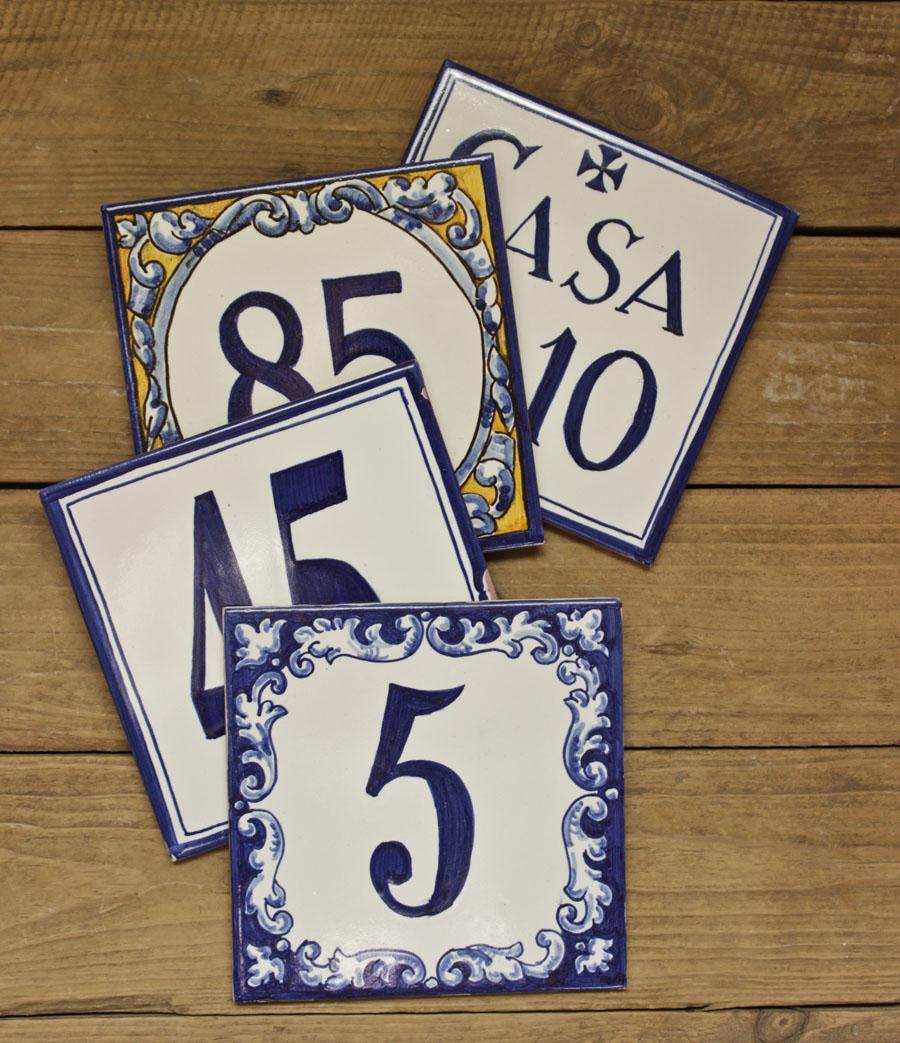 Azulejos rotulados con n mero azulejo personalizados de for Azulejos personalizados